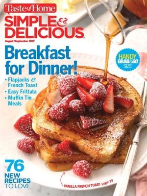 cover image of Simple and Delicious