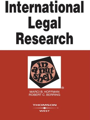 cover image of International Legal Research in a Nutshell