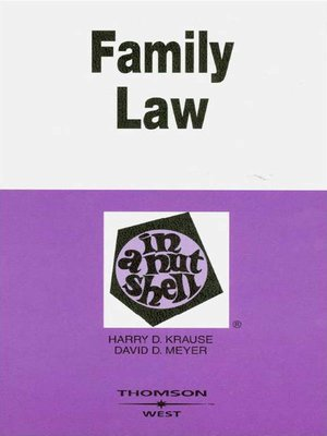 cover image of Family Law in a Nutshell, 5th