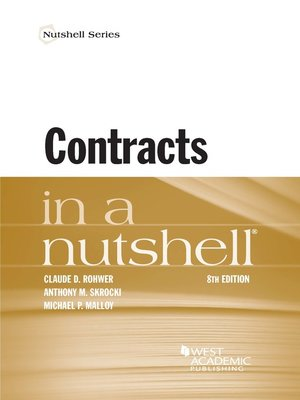 cover image of Contracts in a Nutshell