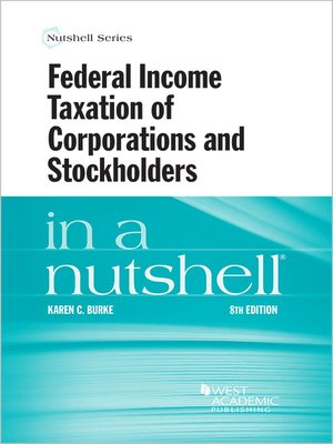 cover image of Federal Income Taxation of Corporations and Stockholders in a Nutshell