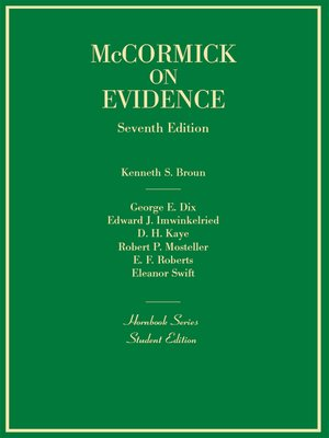 cover image of Evidence, 7th (Hornbook Series)