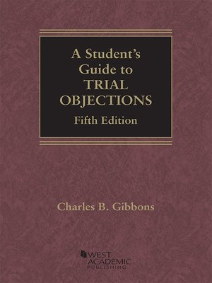cover image of A Student's Guide to Trial Objections