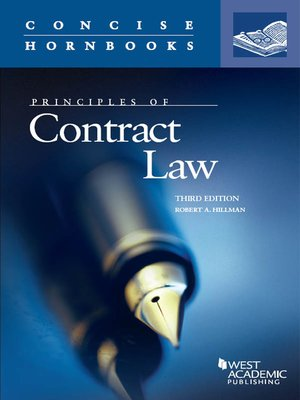 cover image of Principles of Contract Law, 3d (Concise Hornbook Series)