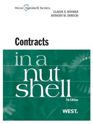 cover image of Rohwer and Skrocki's Contracts in a Nutshell, 7th