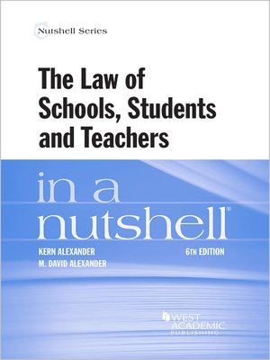 cover image of The Law of Schools, Students and Teachers in a Nutshell