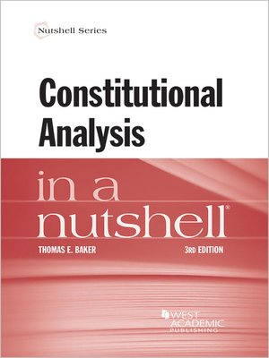 cover image of Constitutional Analysis in a Nutshell
