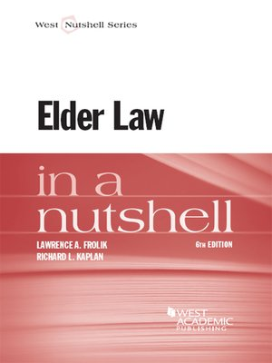 cover image of Elder Law in a Nutshell, 6th