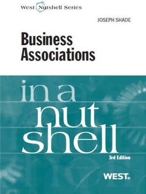 cover image of Shade's Business Associations in a Nutshell, 3d