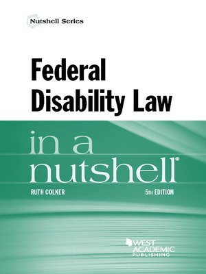 cover image of Federal Disability Law in a Nutshell