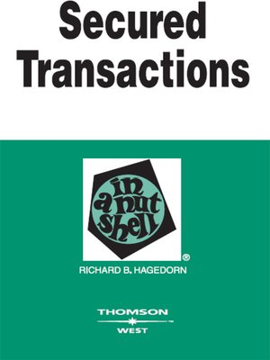cover image of Secured Transactions in a Nutshell, 5th