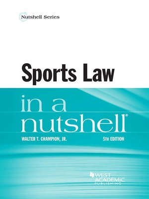 cover image of Sports Law in a Nutshell