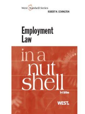 cover image of Covington's Employment Law in a Nutshell, 3d