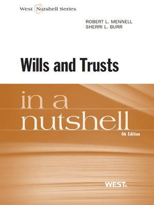 cover image of Mennell and Burr's Wills and Trusts in a Nutshell, 4th