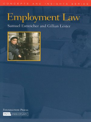cover image of Employment Law (Concepts and Insights Series)