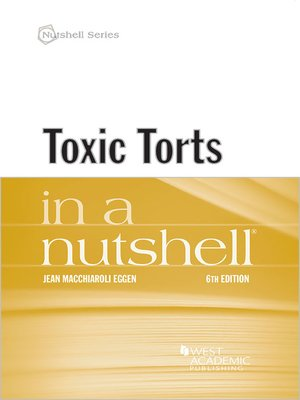 cover image of Toxic Torts in a Nutshell