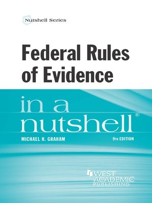 cover image of Federal Rules of Evidence in a Nutshell, 9th