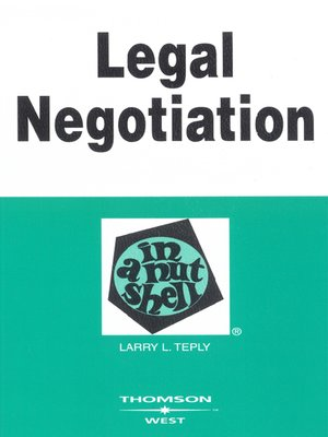 cover image of Legal Negotiation in a Nutshell