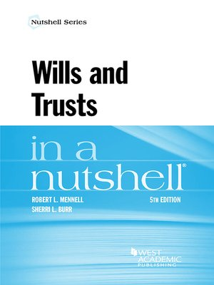 cover image of Wills and Trusts in a Nutshell