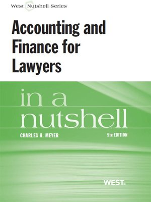 cover image of Accounting and Finance for Lawyers in a Nutshell, 5th