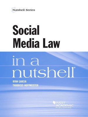 cover image of Social Media Law in a Nutshell