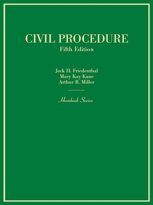 cover image of Civil Procedure