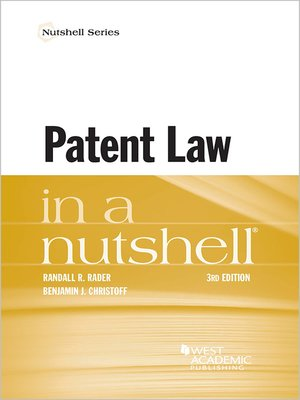 cover image of Patent Law in Nutshell