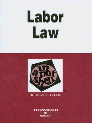 cover image of Leslie's Labor Law in a Nutshell, 5th