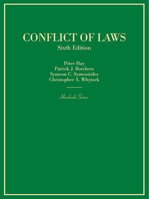 cover image of Conflict of Laws