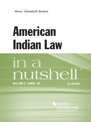 cover image of American Indian Law in a Nutshell, 6th