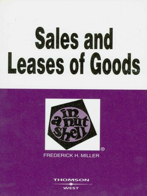 cover image of Sales and Leases of Goods in a Nutshell, 4th