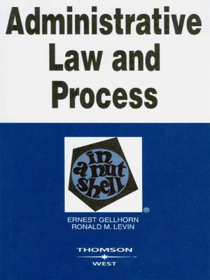 cover image of Administrative Law and Process in a Nutshell, 5th