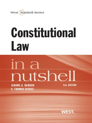 cover image of Barron and Dienes' Constitutional Law in a Nutshell, 8th