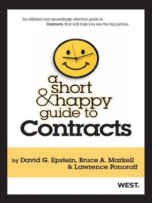 cover image of Epstein, Markell and Ponoroff's a Short and Happy Guide to Contracts