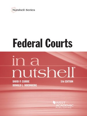 cover image of Federal Courts in a Nutshell