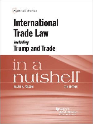 cover image of International Trade Law Including Trump and Trade in a Nutshell