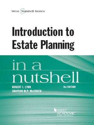 cover image of Introduction to Estate Planning in a Nutshell, 6th