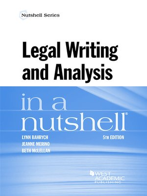 cover image of Legal Writing and Analysis in a Nutshell