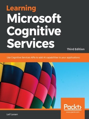 cover image of Learning Microsoft Cognitive Services