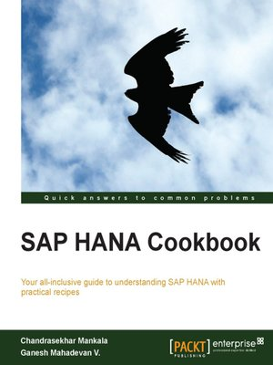 cover image of SAP HANA Cookbook