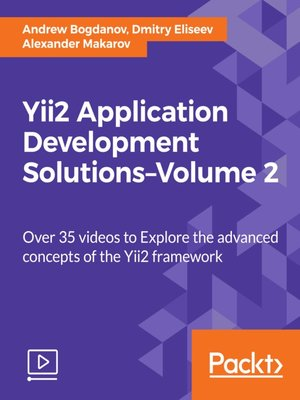 cover image of Yii2 Application Development Solutions, Volume 2