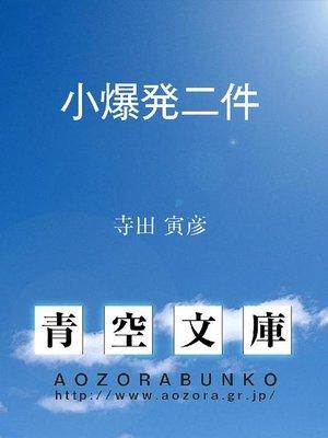 cover image of 小爆発二件
