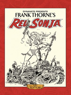 cover image of Frank Thorne's Red Sonja: Art Edition, Volume 1