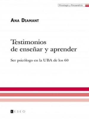 cover image of Testimonios de enseñar y aprender