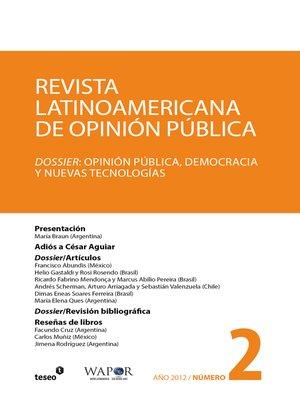 cover image of Revista Latinoamericana de Opinión Pública Nº2