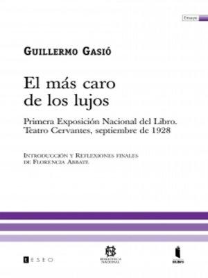 cover image of El más caro de los lujos