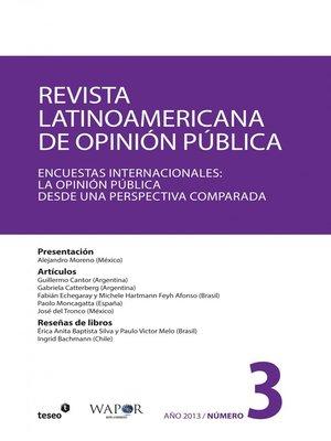 cover image of Revista Latinoamericana de Opinión Pública Nº3
