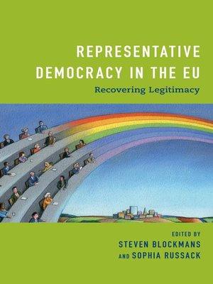 cover image of Representative Democracy in the EU