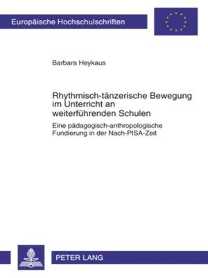 cover image of Rhythmisch-taenzerische Bewegung im Unterricht an weiterfuehrenden Schulen