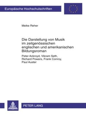 cover image of Die Darstellung von Musik im zeitgenoessischen englischen und amerikanischen Bildungsroman